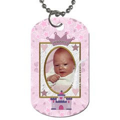 Little Princess 2 Sided Dog Tag By Lil    Dog Tag (two Sides)   C1mrz9gumg86   Www Artscow Com Front