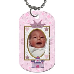Little Princess 2 Sided Dog Tag By Lil    Dog Tag (two Sides)   C1mrz9gumg86   Www Artscow Com Back
