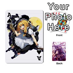 Ace Touhou Playing Card Deck Reisen Back By K Kaze   Playing Cards 54 Designs   718w9ukj92au   Www Artscow Com Front - SpadeA