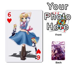 Touhou Playing Card Deck Reisen Back By K Kaze   Playing Cards 54 Designs   718w9ukj92au   Www Artscow Com Front - Heart6
