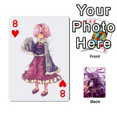 Touhou Playing Card Deck Reisen Back By K Kaze   Playing Cards 54 Designs   718w9ukj92au   Www Artscow Com Front - Heart8