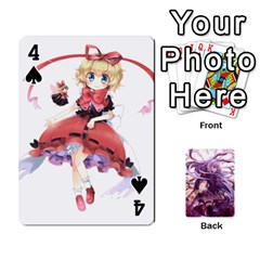 Touhou Playing Card Deck Reisen Back By K Kaze   Playing Cards 54 Designs   718w9ukj92au   Www Artscow Com Front - Spade4