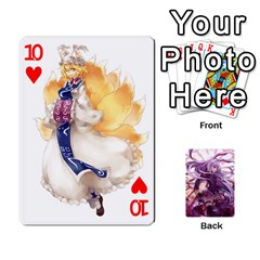 Touhou Playing Card Deck Reisen Back By K Kaze   Playing Cards 54 Designs   718w9ukj92au   Www Artscow Com Front - Heart10