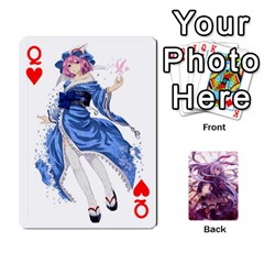 Queen Touhou Playing Card Deck Reisen Back By K Kaze   Playing Cards 54 Designs   718w9ukj92au   Www Artscow Com Front - HeartQ