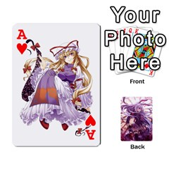 Ace Touhou Playing Card Deck Reisen Back By K Kaze   Playing Cards 54 Designs   718w9ukj92au   Www Artscow Com Front - HeartA
