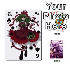 Touhou Playing Card Deck Reisen Back By K Kaze   Playing Cards 54 Designs   718w9ukj92au   Www Artscow Com Front - Spade6