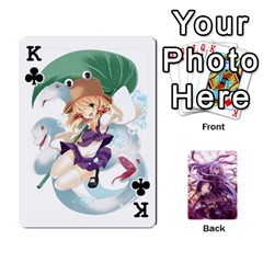 King Touhou Playing Card Deck Reisen Back By K Kaze   Playing Cards 54 Designs   718w9ukj92au   Www Artscow Com Front - ClubK