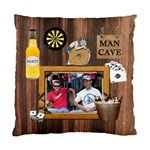 Man Cave Cushion Case (1 Sided) - Standard Cushion Case (One Side)