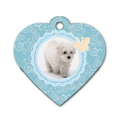 Maxine Blue Dog Tag By Purplekiss   Dog Tag Heart (two Sides)   S5j8xgolawuk   Www Artscow Com Front