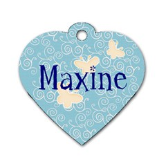 Maxine Blue Dog Tag By Purplekiss   Dog Tag Heart (two Sides)   S5j8xgolawuk   Www Artscow Com Back