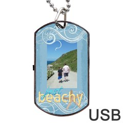 Just Beachy Sunny Days Data Dog Tag By Catvinnat   Dog Tag Usb Flash (two Sides)   5tah935e5roj   Www Artscow Com Front