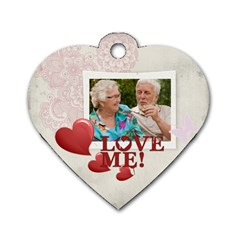 Love Me  By Joely   Dog Tag Heart (two Sides)   Ruwfommjmyb4   Www Artscow Com Front