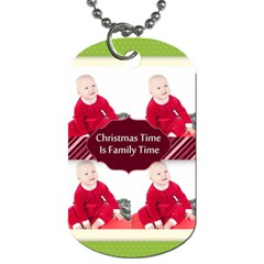 Christmas By May   Dog Tag (two Sides)   Dp8zu71bw8g6   Www Artscow Com Back
