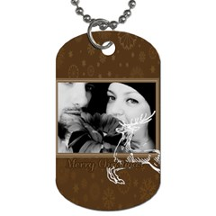 Christmas By May   Dog Tag (two Sides)   Wlbbcfqh3sa2   Www Artscow Com Front