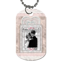 Pretty Lace Dog Tag (2 Sides) By Lil    Dog Tag (two Sides)   4pq100b4iteb   Www Artscow Com Front
