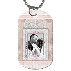 Pretty Lace Dog Tag (2 Sides) By Lil    Dog Tag (two Sides)   4pq100b4iteb   Www Artscow Com Back