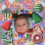 Baby s First Christmas 2011 8x8 - ScrapBook Page 8  x 8