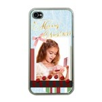 merry christmas - Apple iPhone 4 Case (Clear)
