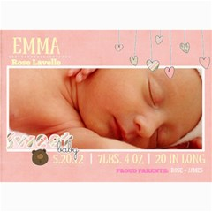 Baby Girl Card By Denise Zavagno   5  X 7  Photo Cards   V8t8t22vzfpu   Www Artscow Com 7 x5 Photo Card - 9
