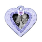 heart tag pink zig zag dog tag - Dog Tag Heart (Two Sides)