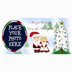 Mr&mrs Claus Christmas Card 8 x4  By Chere s Creations   4  X 8  Photo Cards   3oc86fej7w0c   Www Artscow Com 8 x4 Photo Card - 2
