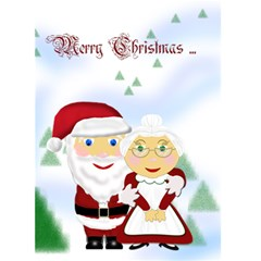 Mr&mrs Claus Christmas Card 5x7 By Chere s Creations   Greeting Card 5  X 7    Jkfvwb7du67q   Www Artscow Com Front Cover