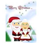 Mr&Mrs Claus Christmas Card 5x7 - Greeting Card 5  x 7
