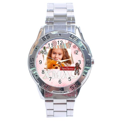 Xmas By Joely   Stainless Steel Analogue Watch   J71vibatt8lg   Www Artscow Com Front