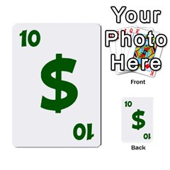 Power Grid Money Cards By Doug Bass   Multi Purpose Cards (rectangle)   Qnbyruwoiscd   Www Artscow Com Front 50