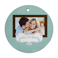Christmas By May   Round Ornament (two Sides)   Tkjq4c9ajhlc   Www Artscow Com Front