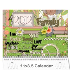 Parents Calendar By Nicole Prom   Wall Calendar 11  X 8 5  (12 Months)   K44plhxb386r   Www Artscow Com Cover
