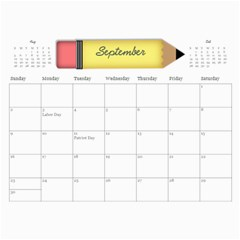Parents Calendar By Nicole Prom   Wall Calendar 11  X 8 5  (12 Months)   K44plhxb386r   Www Artscow Com Sep 2012