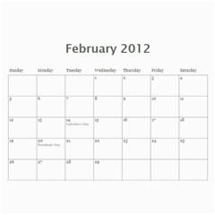 Loy2012 By Jj   Wall Calendar 11  X 8 5  (12 Months)   4kfullhusy5y   Www Artscow Com Feb 2012