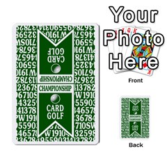 Championship Card Golf Deck (final Version 12 20 2012) By Douglas Inverso   Multi Purpose Cards (rectangle)   9783yblrbkq7   Www Artscow Com Back 12