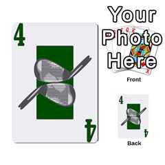 Championship Card Golf Deck (final Version 12 20 2012) By Douglas Inverso   Multi Purpose Cards (rectangle)   9783yblrbkq7   Www Artscow Com Front 18