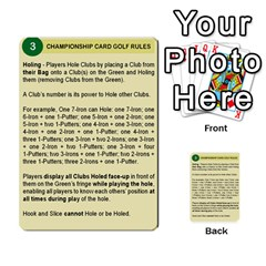 Championship Card Golf Deck (final Version 12 20 2012) By Douglas Inverso   Multi Purpose Cards (rectangle)   9783yblrbkq7   Www Artscow Com Front 3