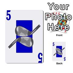 Championship Card Golf Deck (final Version 12 20 2012) By Douglas Inverso   Multi Purpose Cards (rectangle)   9783yblrbkq7   Www Artscow Com Front 21