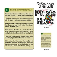 Championship Card Golf Deck (final Version 12 20 2012) By Douglas Inverso   Multi Purpose Cards (rectangle)   9783yblrbkq7   Www Artscow Com Front 4