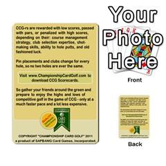 Championship Card Golf Deck (final Version 12 20 2012) By Douglas Inverso   Multi Purpose Cards (rectangle)   9783yblrbkq7   Www Artscow Com Back 4