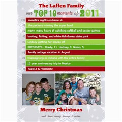Top 10 Moments Christmas Card By Lana Laflen   5  X 7  Photo Cards   T254x4valtuk   Www Artscow Com 7 x5 Photo Card - 8