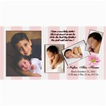 Nafisa Birth Announcement - 4  x 8  Photo Cards