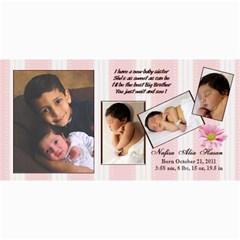 Nafisa Birth Announcement By Shadan Hasan   4  X 8  Photo Cards   Mm8t65oronpc   Www Artscow Com 8 x4 Photo Card - 5