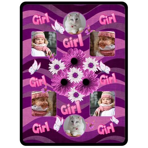 Girl (xl) Fleece Blanket By Deborah   Fleece Blanket (large)   23kewskz44af   Www Artscow Com 80 x60 Blanket Front