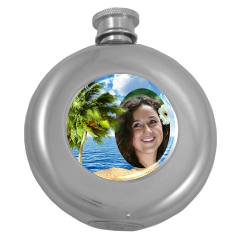 Vacation Hip Flask By Deborah   Hip Flask (5 Oz)   Z0zwhmiq9o66   Www Artscow Com Front