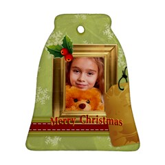 Xmas By Joely   Bell Ornament (two Sides)   3bw9fs4ajgxp   Www Artscow Com Front