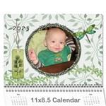 Green Nature 12 Month Wall Calendar - Wall Calendar 11  x 8.5  (12-Months)