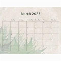 Green Nature 12 Month Wall Calendar By Lil    Wall Calendar 11  X 8 5  (12 Months)   036wny4xfd6k   Www Artscow Com Mar 2015