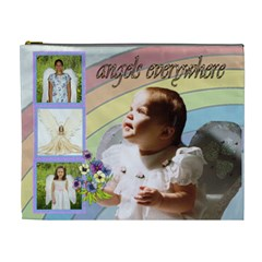 Angels Everywhere Xl Cosmetic Bag By Kim Blair   Cosmetic Bag (xl)   Pezzvacxvhdf   Www Artscow Com Front