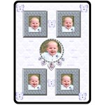 Flutter blue bear  just born boys charm bracelet blanket blankie - Fleece Blanket (Large)