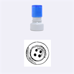 Button Stamp - Rubber Stamp Round (Small)